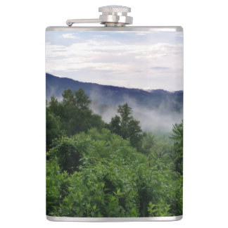 Misty Mountains The Great Smoky Mountains Flask