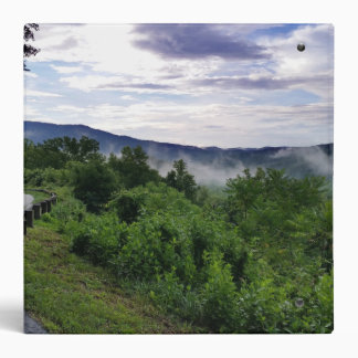 Misty Mountains The Great Smoky Mountains Vinyl Binder