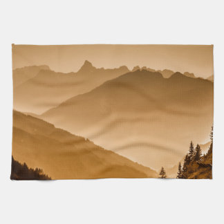 Misty mountains towels
