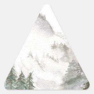 Misty Mountains Triangle Sticker
