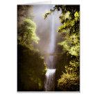 Misty Multnomah Falls Card
