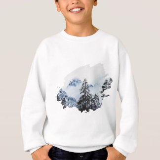 Misty peak Watercolor Sweatshirt