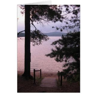 Misty Pink Lake Birthday Card w Bible Verse2