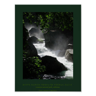 Misty Rapids Beneath Vernal Falls Poster