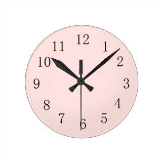 Misty Rose Pink Round (Medium) Wall Clock