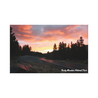 Misty Sunrise at Rocky Mountain National Park Canvas Print