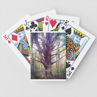 Misty Tree Bicycle Playing Cards