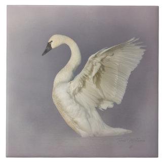 Misty Tundra Swan Tile