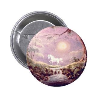 MISTY UNICORN  by SHARON SHARPE 2 Inch Round Button
