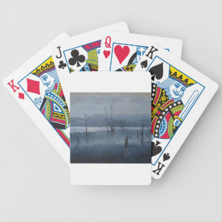 Misty water bicycle playing cards