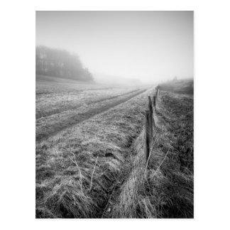 Misty Wiltshire Field postcard