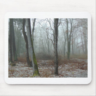Misty Wood Mouse Pad