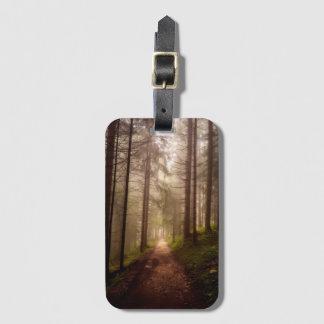 Misty Woodland Path Luggage Tag