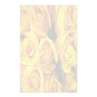 Misty Yellow Roses Stationery Paper