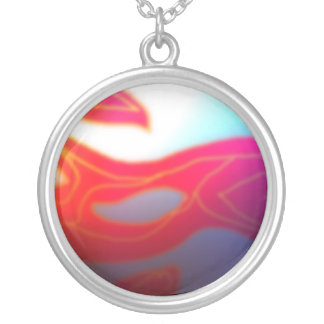 MistyReds  Abstract >Sterling Silverpated Necklace