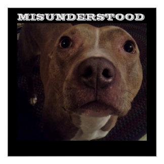 MISUNDERSTOOD PIT BULL DOG poster