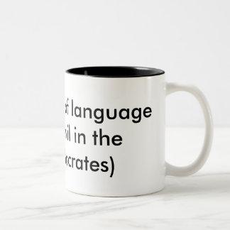 Misused Language Two-Tone Coffee Mug