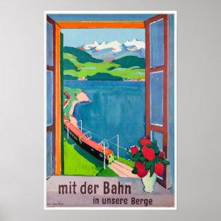 Mit der Bahn in unsere Berge, Poster