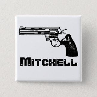 Mitchell! 2 Inch Square Button