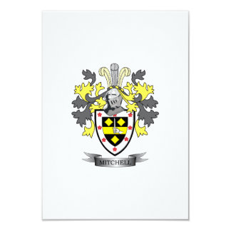 Mitchell Family Crest Coat of Arms Card