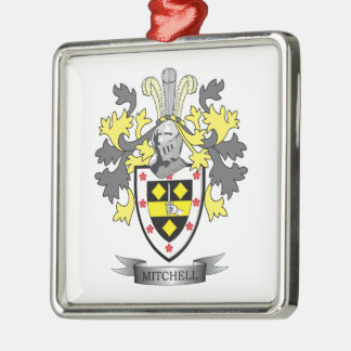 Mitchell Family Crest Coat of Arms Metal Ornament
