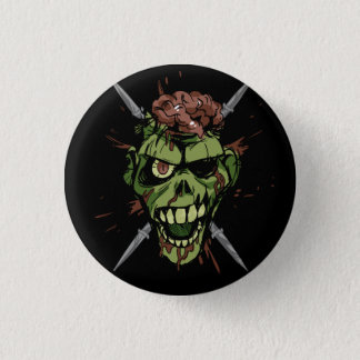 mitch's zombie graphic 1 inch round button