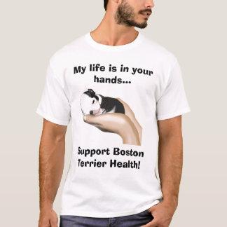 Miter Supports Boston Terrier Health T-Shirt