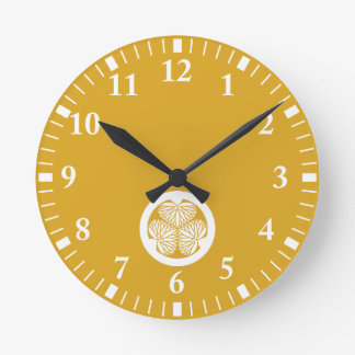 Mito hollyhock(19) round clock