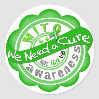 Mito We Need a Cure Classic Round Sticker