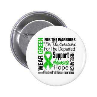 Mitochondrial Disease I Wear Green Ribbon Tribute 2 Inch Round Button