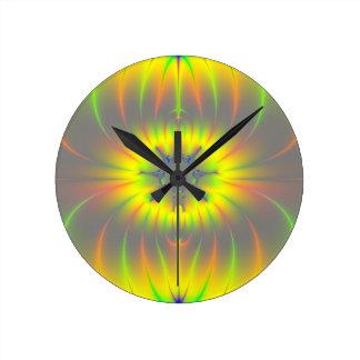 Mitosis Fractal Round Clock