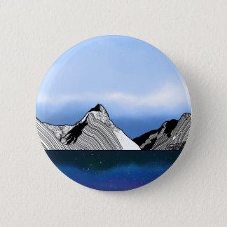 Mitre Peak Line ART New Zealand 2 Inch Round Button