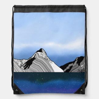 Mitre Peak Line ART New Zealand Drawstring Bag