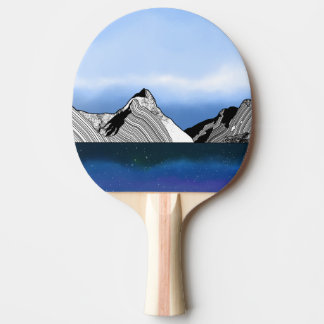 Mitre Peak Line ART New Zealand Ping Pong Paddle