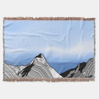 Mitre Peak Line ART New Zealand Throw Blanket