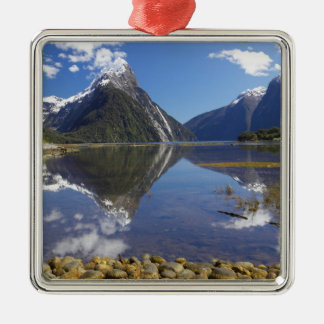 Mitre Peak, Milford Sound, Fiordland National Metal Ornament