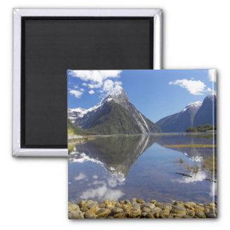 Mitre Peak, Milford Sound, Fiordland National Square Magnet