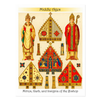 Mitres, Garb, and Insignia of the Bishop Postcard