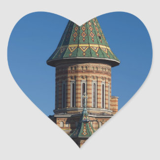 Mitropolitan Cathedral, Timisoara, Romania Heart Sticker