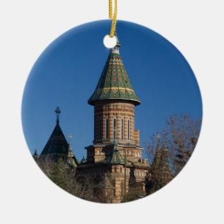 Mitropolitan Cathedral, Timisoara, Romania Round Ceramic Ornament