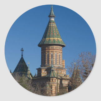 Mitropolitan Cathedral, Timisoara, Romania Round Sticker