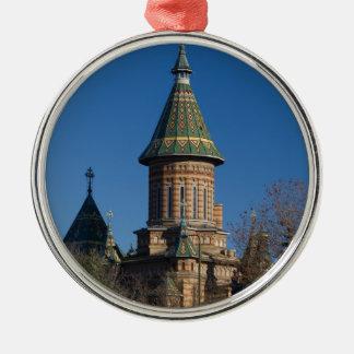 Mitropolitan Cathedral, Timisoara, Romania Silver-Colored Round Ornament