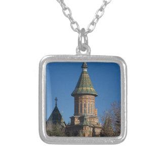 Mitropolitan Cathedral, Timisoara, Romania Silver Plated Necklace