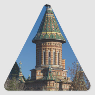 Mitropolitan Cathedral, Timisoara, Romania Triangle Sticker