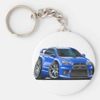 Mitsubishi Evo Blue Car Keychain