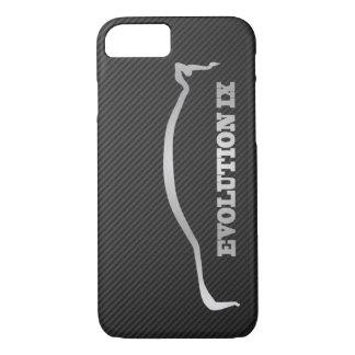 Mitsubishi Evo IX Silver Silhouette & Faux Carbon iPhone 8/7 Case