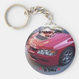 Mitsubishi Lancer Evolution V/// Basic Round Button Keychain