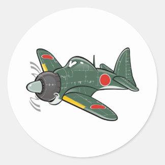 mitsubishi zero classic round sticker