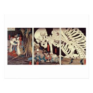 Mitsukini Defying the Skeleton Spectre, c.1845 Postcard