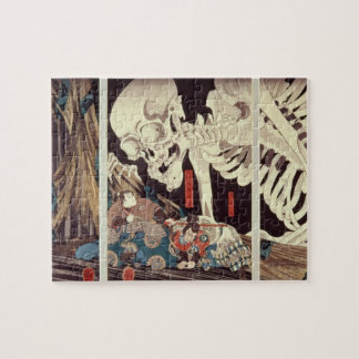 Mitsukini Defying the Skeleton Spectre, c.1845 Puzzle